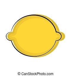 Isolated lemon sketch icon. Vector illustration design