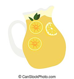 Isolated lemonade jar