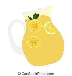 Isolated lemonade jar