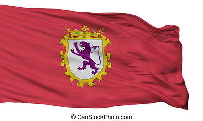 Isolated Leon city flag, Spain - Leon flag, city of Spain,...