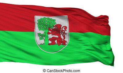 Isolated Liepaja city flag, Latvia - Liepaja flag, city of...