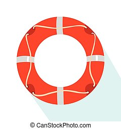 Isolated lifesaver icon on a white background, Vector illustration
