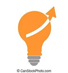 Isolated lightbulb icon