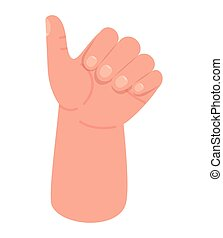 Isolated like hand vector design - like hand design of ...