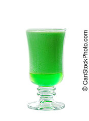 Isolated lime jello