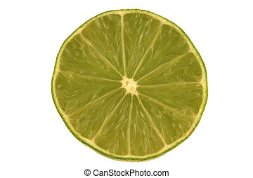 Isolated Lime Slices