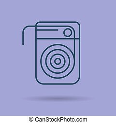 Isolated linear icon of dental floss