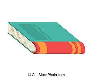 Isolated literature book design