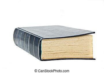 isolated., livro duro tampa