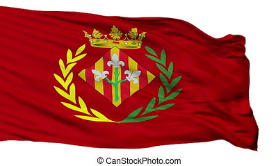 Isolated Lleida city flag, Spain - Lleida flag, city of...