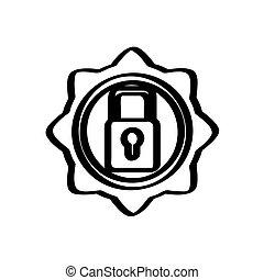 Isolated lockpad symbol icon on a white background