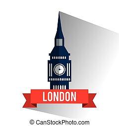Isolated london big ben design