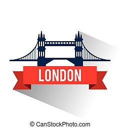 Isolated london bridge design - Bridge icon. London england...