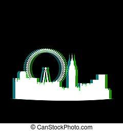 Isolated London cityscape