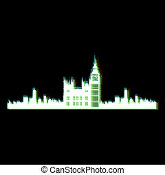 Isolated London cityscape
