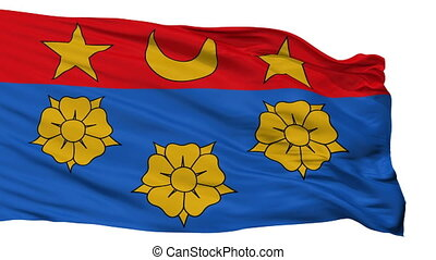 Isolated Longueuil city flag, Canada - Longueuil flag, city...