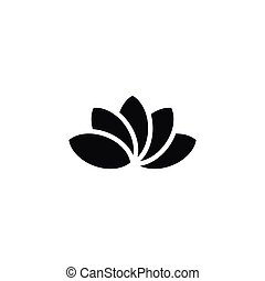 Isolated Lotus Icon. Water Lily Vector Element Can Be Used For Lotus, Water, Lily Design Concept.