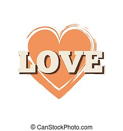 Isolated Love orange