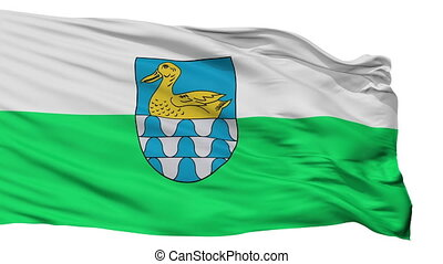 Isolated Lubana city flag, Latvia - Lubana flag, city of...
