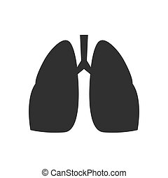 Isolated lung icon on a white background.