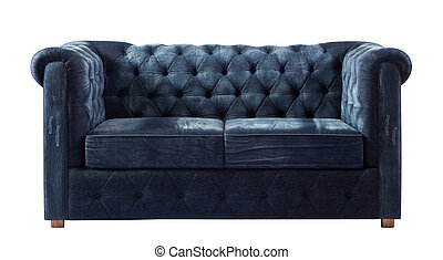 isolated luxurious sofa jean on white background with...