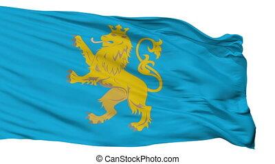 Isolated Lviv Oblast flag, Ukraine - Lviv Oblast flag,...