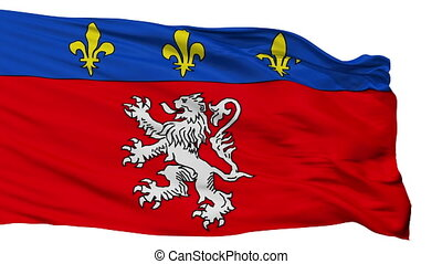 Isolated Lyon city flag, France - Lyon flag, city of France,...