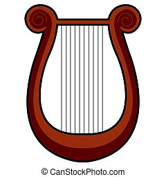 Isolated lyre icon