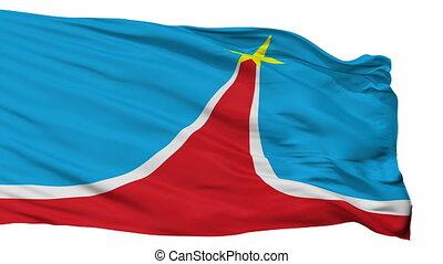 Isolated Lyubertsy city flag, Russia - Lyubertsy flag, city...
