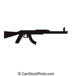 Isolated machine gun icon. Vector illustration design