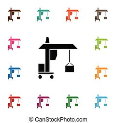 Isolated Machine Icon. Hook Vector Element Can Be Used For Hook, Machine, Crane Design Concept.