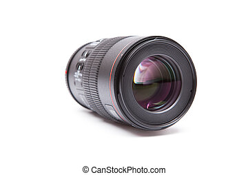 isolated macro lens on a white background