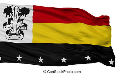 Isolated Madang city flag, Papua New Guinea