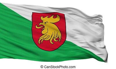 Isolated Madona city flag, Latvia - Madona flag, city of...