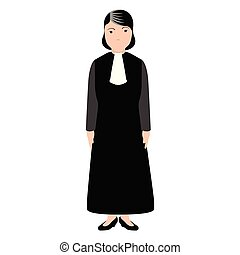 Isolated magistrate avatar image. Vector illustration design