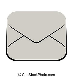 Isolated mail icon
