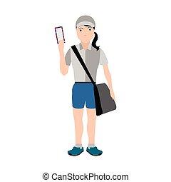 Isolated mailman avatar image. Vector illustration design