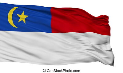 Isolated Malacca city flag, Malaysia - Malacca flag, city of...