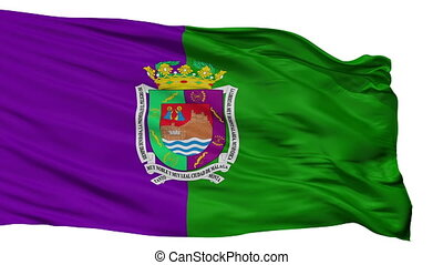 Isolated Malaga city flag, Spain - Malaga flag, city of...