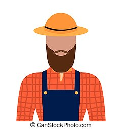 Isolated male farmer