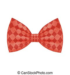 Isolated male red bowtie vector design - Male red bowtie ...