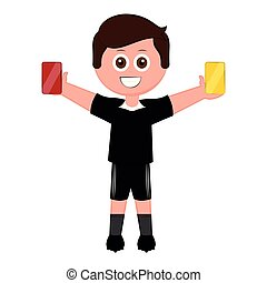 Isolated male soccer referee