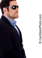 Isolated male with sunglasses