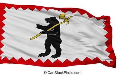 Isolated Maloyaroslavets city flag, Russia - Maloyaroslavets...
