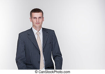 isolated man suit