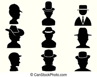 man with hat icon