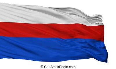 Isolated Manati city flag, Puerto Rico - Manati flag, city...