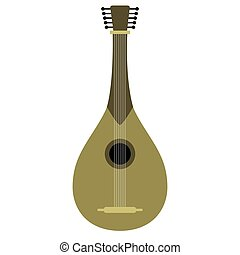 Isolated mandolin icon. Musical instrument