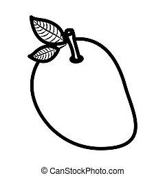 Isolated Mango Fruit Design