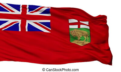 Isolated Manitoba city flag, Canada - Manitoba flag, city of...